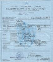 certificat de nastere 170x200 Declararea si inregistrarea nasterii copilului. Certificatul de nastere